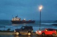 Российский сухогруз сел на мель у побережья Британии