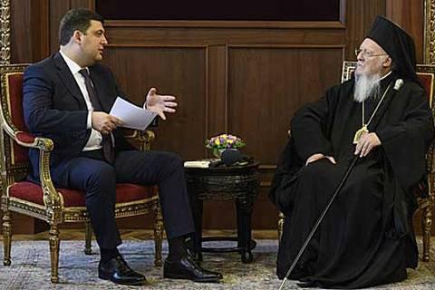 Вселенский патриарх пообещал помочь Украине в создании поместной церкви