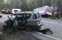 Семь человек пострадали в ДТП с участием маршрутки во Львовской области