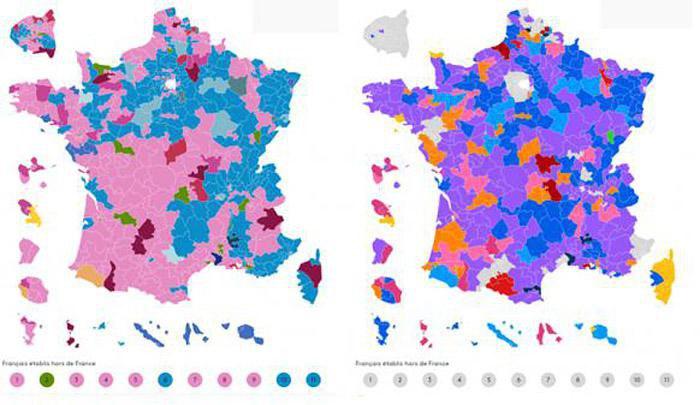 Карта выборов 2012-2017. Трансформация политического лица Франции