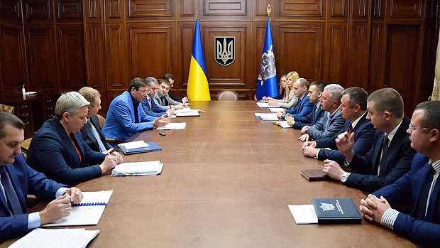 Зустріч генпрокурора Юрій Луценко з членами Ради прокурорів України