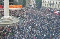 Общественный канал Грузии начал показывать митинг оппозиции