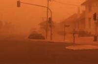 """Город в Австралии накрыла """"марсианская"""" пылевая буря"""