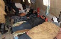 Голодающие чернобыльцы немного померзли ночью