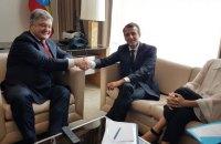 """Порошенко обсудил с Макроном дальнейшую работу в """"нормандском формате"""""""