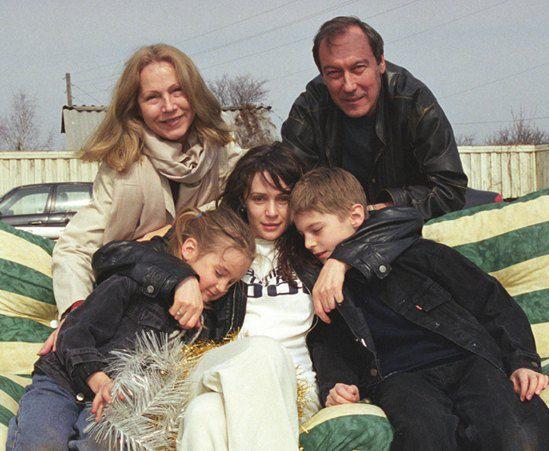 Янковский с семьей
