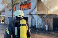 У Києві сталась пожежа в гаражному кооперативі на Видубичах