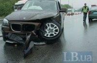 У Києві на Заболотного ЗАЗ лоб у лоб протаранив BMW