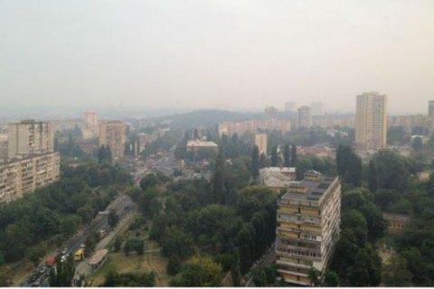 Концентрація шкідливих речовин у повітрі Києва в межах норми