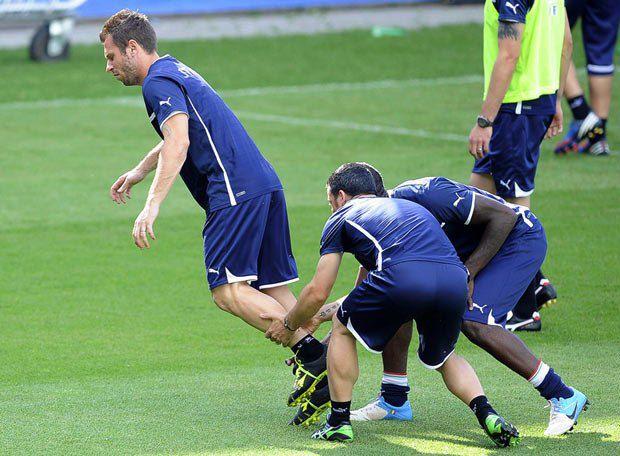 Збірна Італії під час тренування