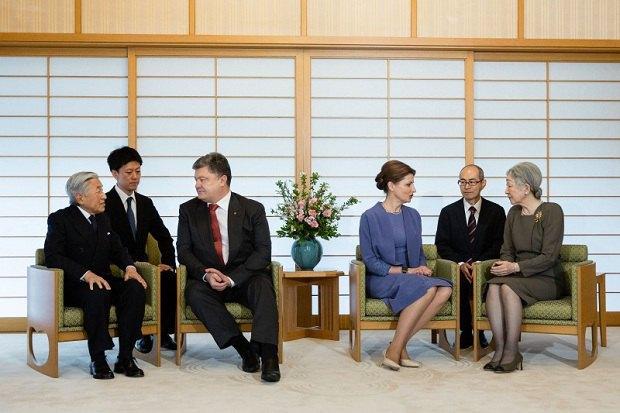 Зустріч Петра і Марини Порошенків з імператором Акіхіто і імператрицею Мітіко