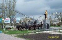 В Запорожской области вернули на место свергнутого Ленина