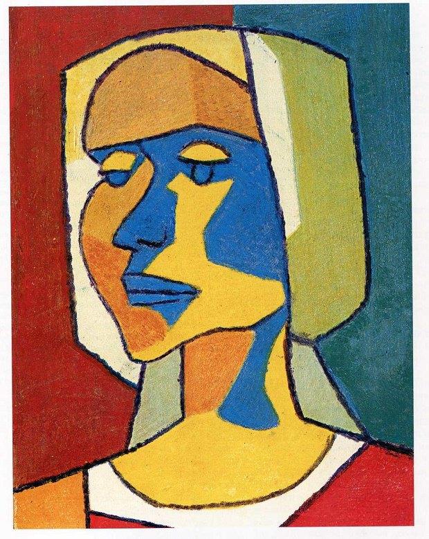 Жінка. 1950-ті. Папір, монотипія