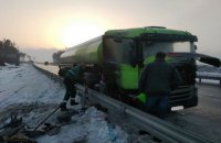 На трассе в Житомирской области горел бензовоз