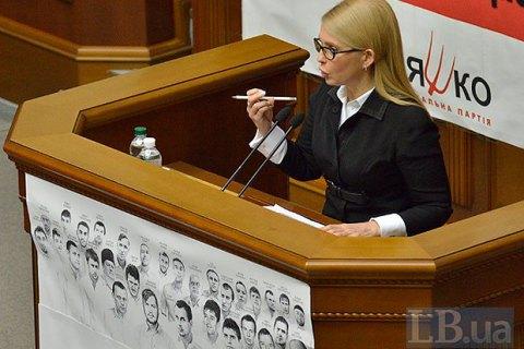Тимошенко: главу Нацбанка нужно немедленно увольнять