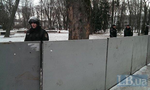 Милиция в Мариинском парке