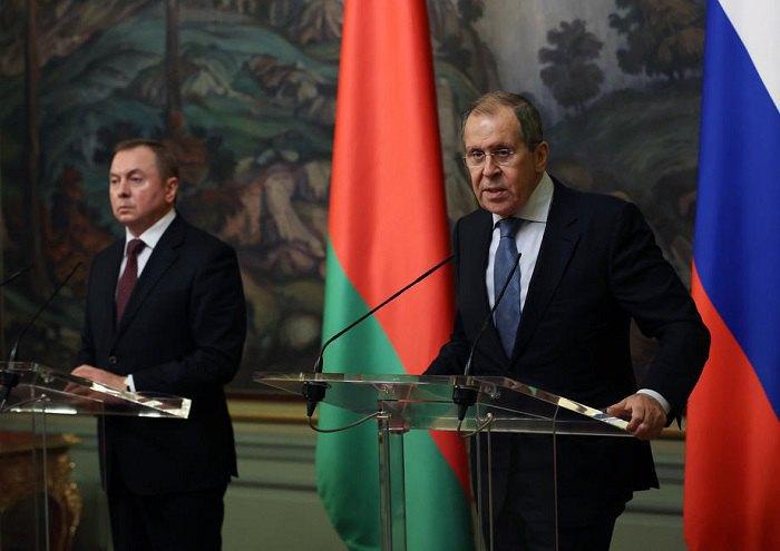 Министры иностранных дел РФ и Беларуси- Сергей Лавров и Владимир Макей