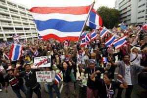 При взрыве на акции протеста в Бангкоке пострадали 28 человек