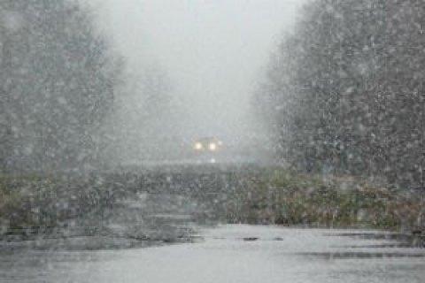 В субботу в Киеве небольшой снег с дождем и до +1 градуса