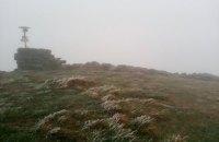 В Карпатах на горе Поп Иван выпал снег