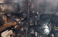 В карпатском селе произошел пожар в гостинице, пострадала одна женщина