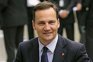Министр иностранных дел Польши Сикорский завтра посетит Украину