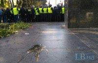 Националисты во главе с Коханивским забросали яйцами памятник Ватутину (обновлено)
