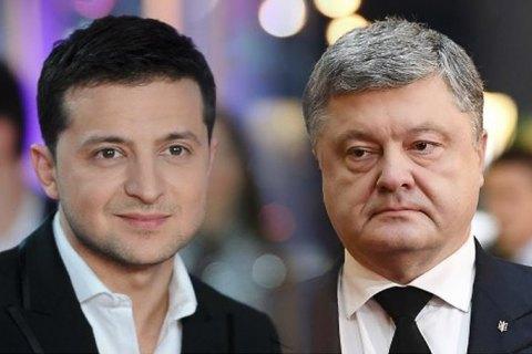 Рейтинг Зеленского - 72%, Порошенко - 25%, - опрос КМИС