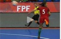 На женском ЕВРО по футзалу португалка забила эффектный гол пяткой