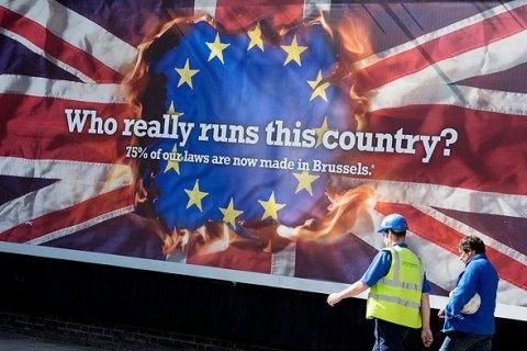 """Скачок в результатах опросов: Великобритания держит курс на """"Брекзит"""", - The Times"""