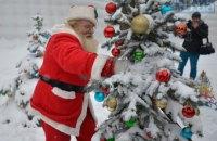 В Мариинском парке Киева открыли поляну hand made елок