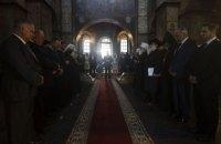 Главы крупнейших церквей вместе помолились за Украину в Софийском соборе