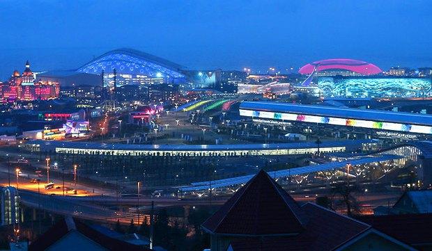 Общий вид Олимпийскогго парка в Сочи