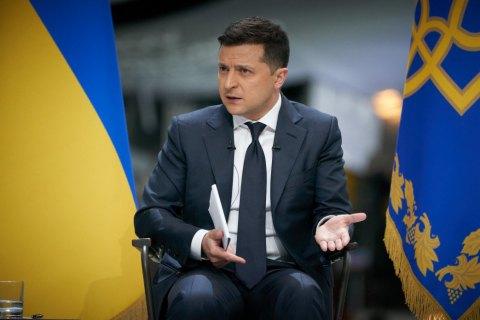 """Зеленський допускає проведення референдуму щодо """"стіни"""" на Донбасі"""