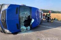 У Черкаській області зіткнулися маршрутка і вантажівка, є постраждалі (оновлено)