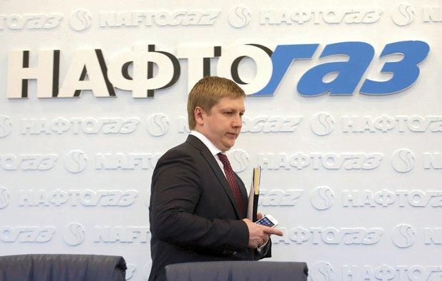Глава Нафтогаза Андрей Коболев на пресс-конференции в Киеве, 13 июня 2014 года.