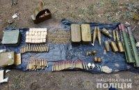 Біля покинутої шахти в Луганській області виявили схованку з боєприпасами