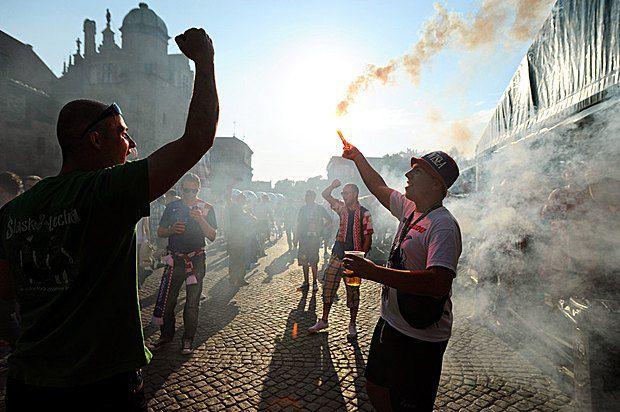 Хорватські фанати у Ґданську