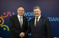 Порошенко встретился с президентом Словакии в Стамбуле