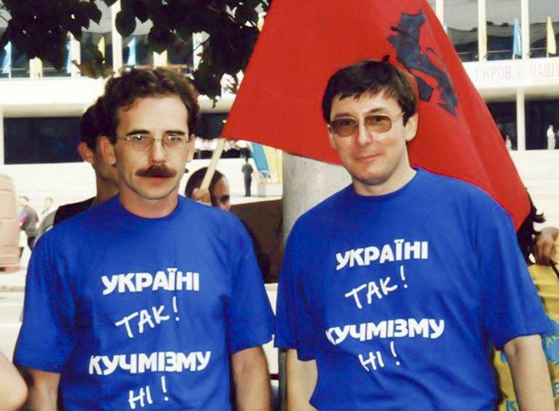 Володимир Чемерис (зліва) і Юрій Луценко, 2001 рік