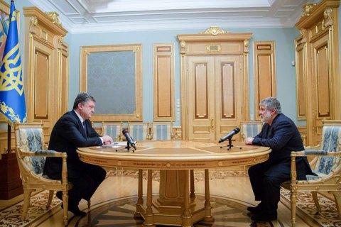 """Коломойский посоветовал Порошенко """"быть осторожнее в высказываниях"""" о нем и о телеканале """"1+1"""""""
