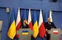 Зеленский встретился с президентом Польши Анджеем Дудой