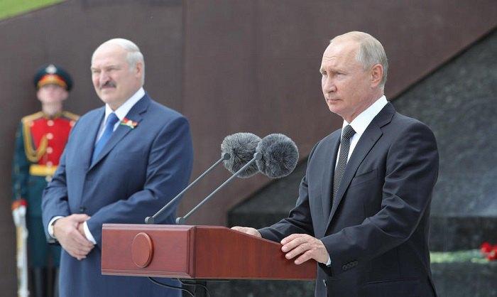 Лукашенко и Путин в Москве, май 2020 года