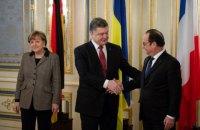 Порошенко в четверг встретится с Меркель и Олландом