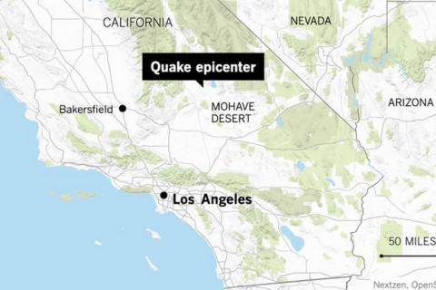В Калифорнии произошло самое сильное землетрясение с 1994 года