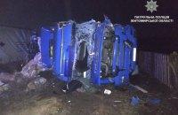 У Житомирській області зіткнулися три вантажівки