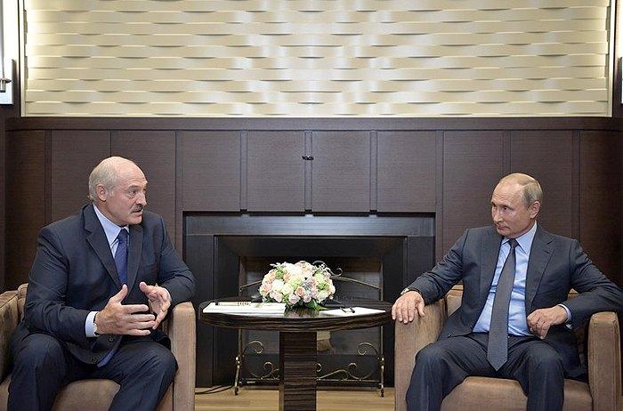 Встреча Владимира Путина и Александра Лукашенка в Сочи, Россия, 22 августа 2018.