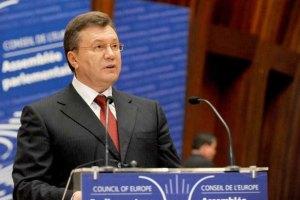 Янукович с энтузиазмом смотрит на отношения Украины и России