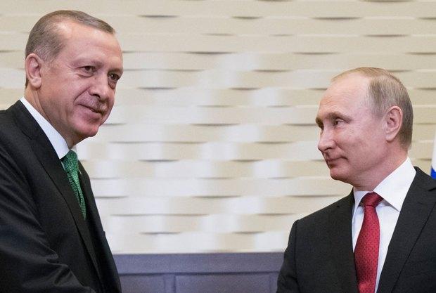 Реджеп Тайипа Эрдогана и Владимир Путин во время переговоров в Сочи, 03 мая 2017.