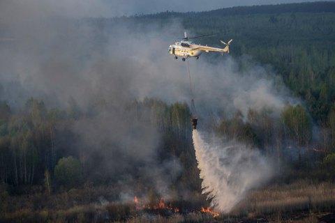 У Чорнобильській зоні горить 20 га трав'яного настилу